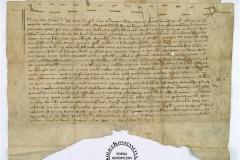 Akt lokacji Woli Cieciszewskiej, 1363, oryginał w zbiorach AGAD