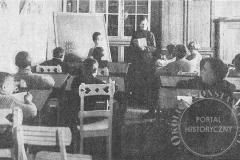 Szkoła w Metodystycznym Domu Dziecka w Klarysewie (1922 r - zbiory Adama Zyszczyka)