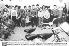 Przekazanie rowerów wychowankom Domu Dziecka przy ul. Gąsiorowskiego - 1985 r (zbiory Adama Zyszczyka)