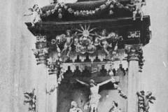 Słomczyn, ołtarz główny 2 ćw. XVIII w (1962 r, zbiory A.Zyszczyka)