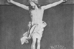 Słomczyn, krucyfiks z 2 ćw. XVIII w(1962 r, zbiory A.Zyszczyka)