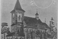 Pierwszy projekt J. Dziekońskiego dla kościoła w Konstancinie (1910 r, zbiory Adama Zyszczyka)