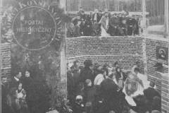 Poświęcenie kamienia węgielnego pod budowę kościoła w Konstancinie  (1910 r, zbiory Adama Zyszczyka)
