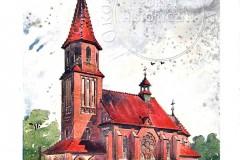 Projekt J. Dziekońskiego dla  kościoła w Strykowie (1908 r, zbiory Tomasza Lachowskiego)
