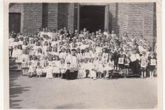 Komunia w Skolimowie - 1950 r