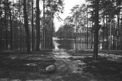 Wylanie Jeziorki w marcu 1947 r na terenie Konstancina -skrzyżowanie ulic Jagiellońskiej i Piłsudskiego (fot. Maria Chrząszczowa ze zbiorów Fundacji Archeologia Fotografii)