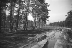 Wylanie Jeziorki w marcu 1947 r na terenie Konstancina - skrzyżowanie ulic Piłsudskiego i Piasta (fot. Maria Chrząszczowa ze zbiorów Fundacji Archeologia Fotografii)