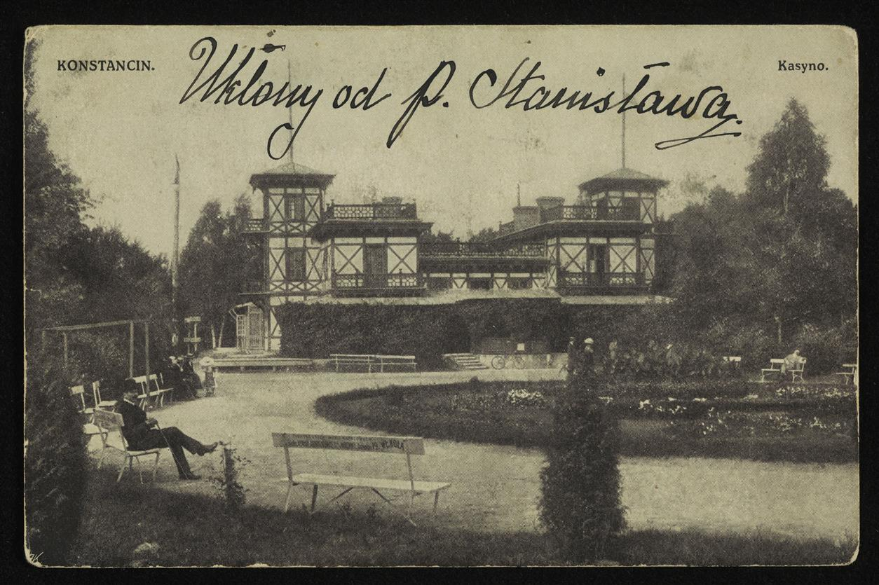"""Restauracja """"Casino"""" w parku, ok. 1905. Zbiory Polony"""