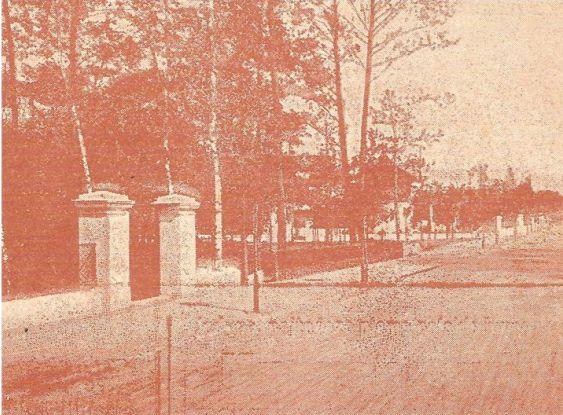 """1902, """"Tygodnik Illustrowany"""", przedłużenie Sienkiewicza i brama prowadząca do parku"""