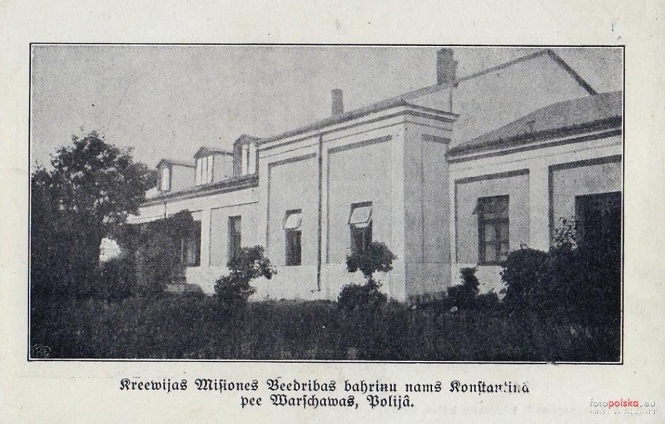 Sierociniec Metodystyczny w Konstancinie w willi Skaut (pocztówka litewska z ok 1919 r, źródło: Fotopolska)