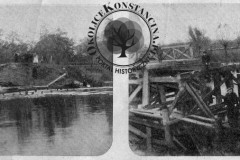 wysadzony most w parku w Konstancinie, 1914 r.