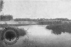 zakole Jeziorki - widok na mostek w parku, 1901 r. (zbiory A.Zyszczyka)