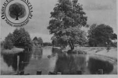 Jeziorka, widok z mostku w parku w Konstancinie, lata 20-30 XX wieku