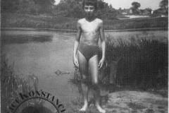 plaża w parku w Konstancinie, lata 60-70 XX wieku