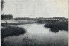 1902. Kolejka wjeżdża do parku w Konstancinie. Widoczny stary układ Jeziorki.
