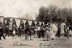 1903. Przyjazd kolejki do Konstancina (ze zbiorów www.muzeumkonstancina.pl)