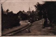 Stacja Konstancin i tor do Cegielni Oborskiej.