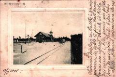 1903. Pocztówka ze Stacją Konstancin. Zbiory Wirtualnego Muzeum Konstancina.