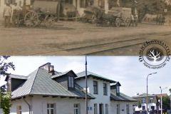 Jesień 1916, Powsin i to samo miejsce obecnie.