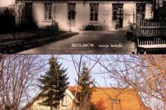 Stacja Skolimów - lata trzydzieste i obecnie.