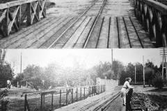 Most kolejowy do parku w Konstancinie, po 1935 i zmianie rozstawu szyn oraz w latach dwudziestych.