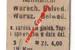 Bilet kolejowy z 1942 r.