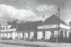 Dworzec w Wilanowie w latach pięćdziesiątych XX wieku.