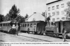 Stacja Belweder, 1953 r.