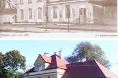 1970, dawna stacja Klarysew i obecnie.