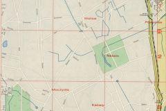 1971, mapa Warszawy ukazująca przebieg kolejki.