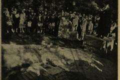Uroczystość poświęcenia kamienia węgielnego pod budowę Tabity 1928 r