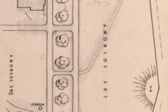 plan sytuacyjny i orientacyjny 1929 (zbiory Muzeum Architektury we Wrocławiu)