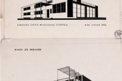 Dwie wersje projektu budynku Tabity 1928  (zbiory Muzeum Architektury we Wrocławiu)