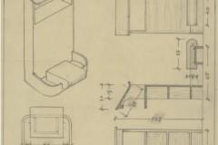 Projekt klęcznika do kaplicy 1932 (zbiory Muzeum Architektury we Wrocławiu)