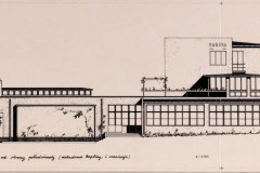 elewacja południowa z kaplicą 1933 (zbiory Muzeum Architektury we Wrocławiu)