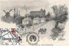 Wiatrak w Słomczynie ok. 1902 r.