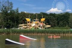 Nowe zjeżdżalnie na terenie basenu, 2020 (fot. A.Zyszczyk)