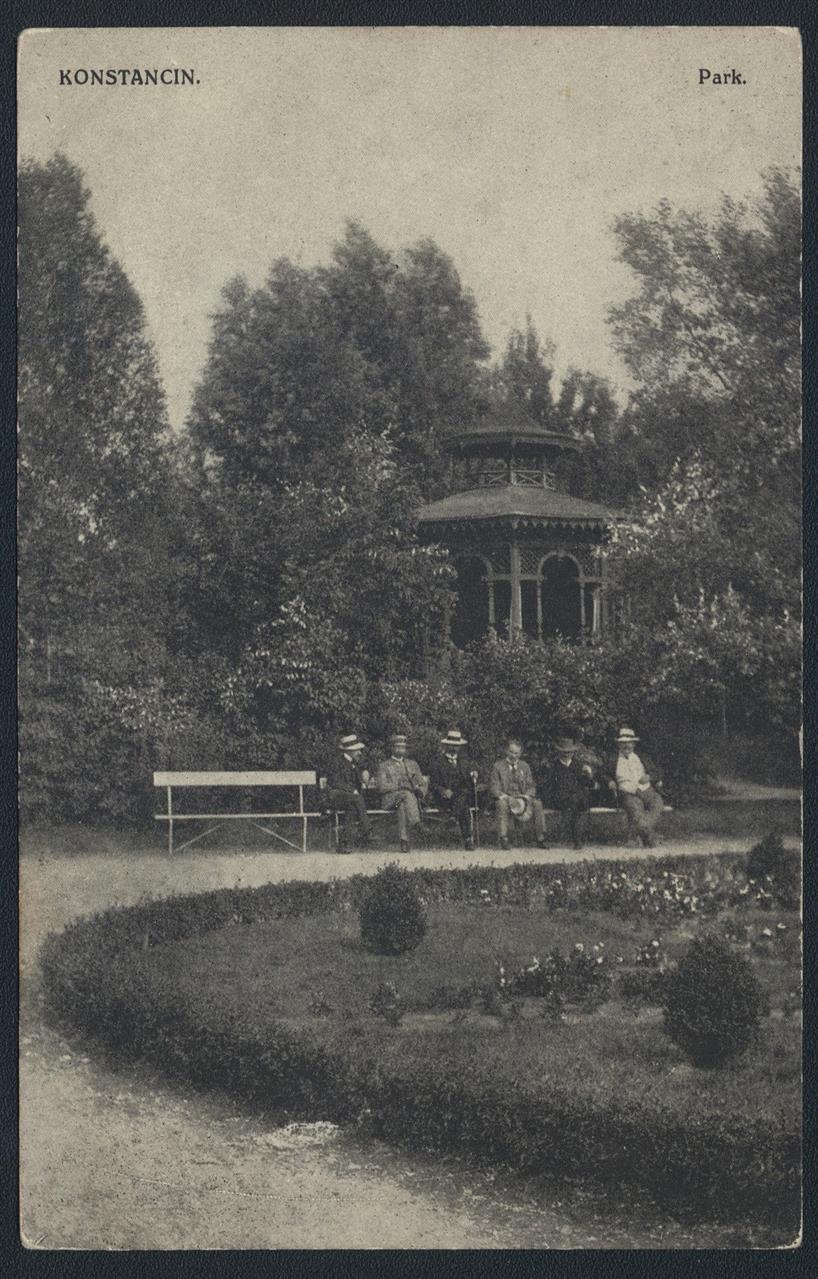 ok. 1905, altana chińska w parku. Zbiory Polony