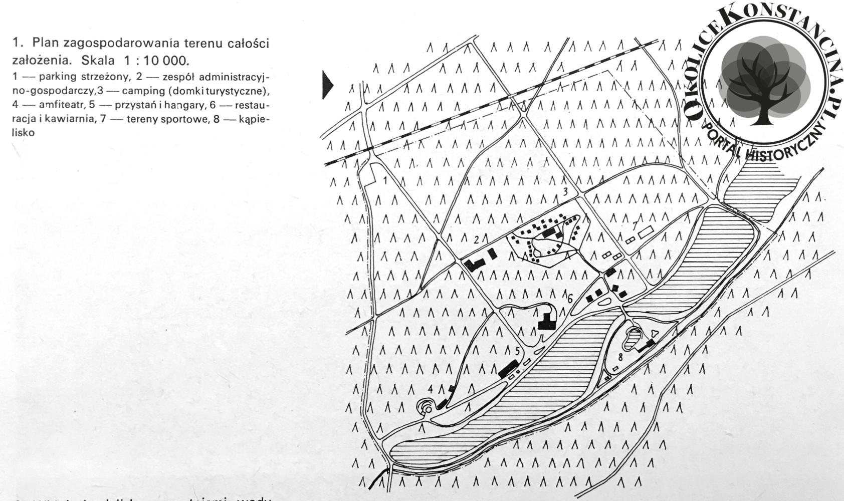 Plan ośrodka - 1961 r. (zbiory A.Zyszczyk)