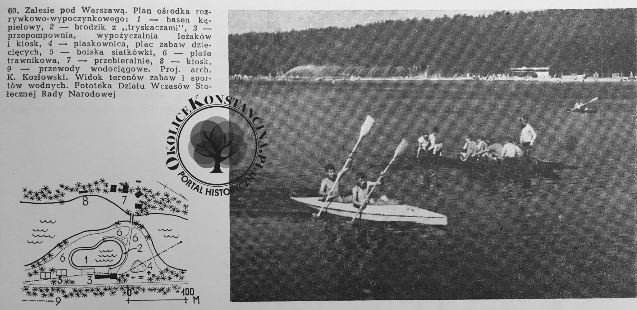 Plan basenów - ok 1961 r (zbiory A.Zyszczyk)