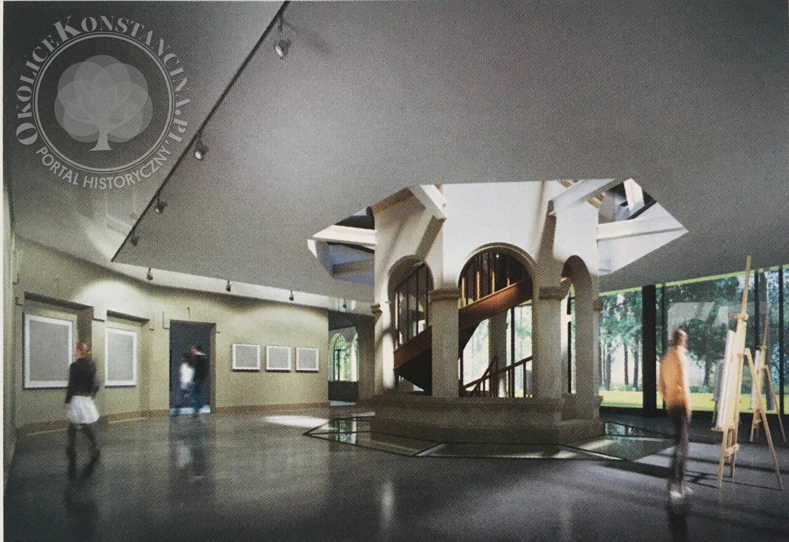 Wizualizacja galerii w nowej przestrzeni budynku (2020 r.)
