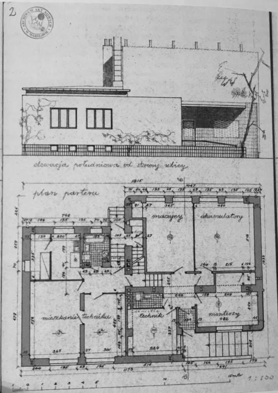 1936 r - projekt budynku w Podkowie Leśnej