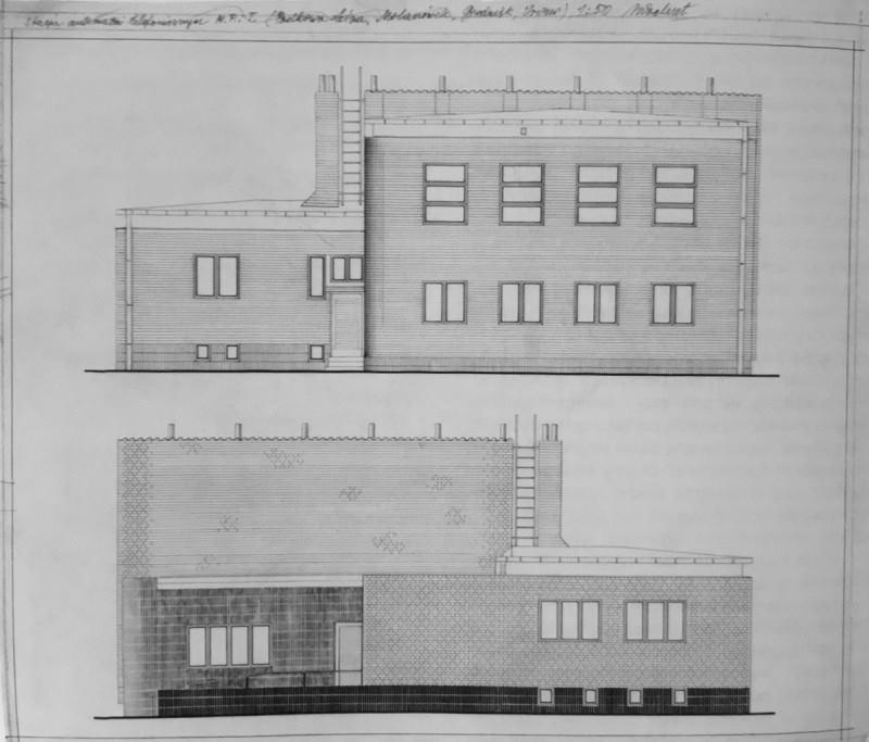 Stacja automatów telefonicznych - projekt budynku wzorcowego