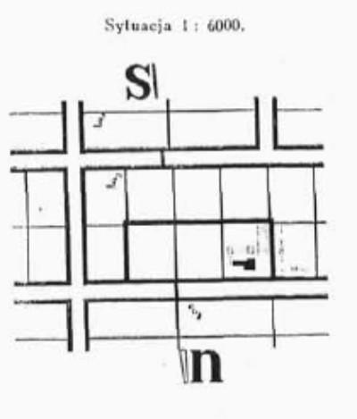 Usytuowanie domu wypoczynkowego dr Bernsteina (Archiektura i Budownictwo 1934 r)
