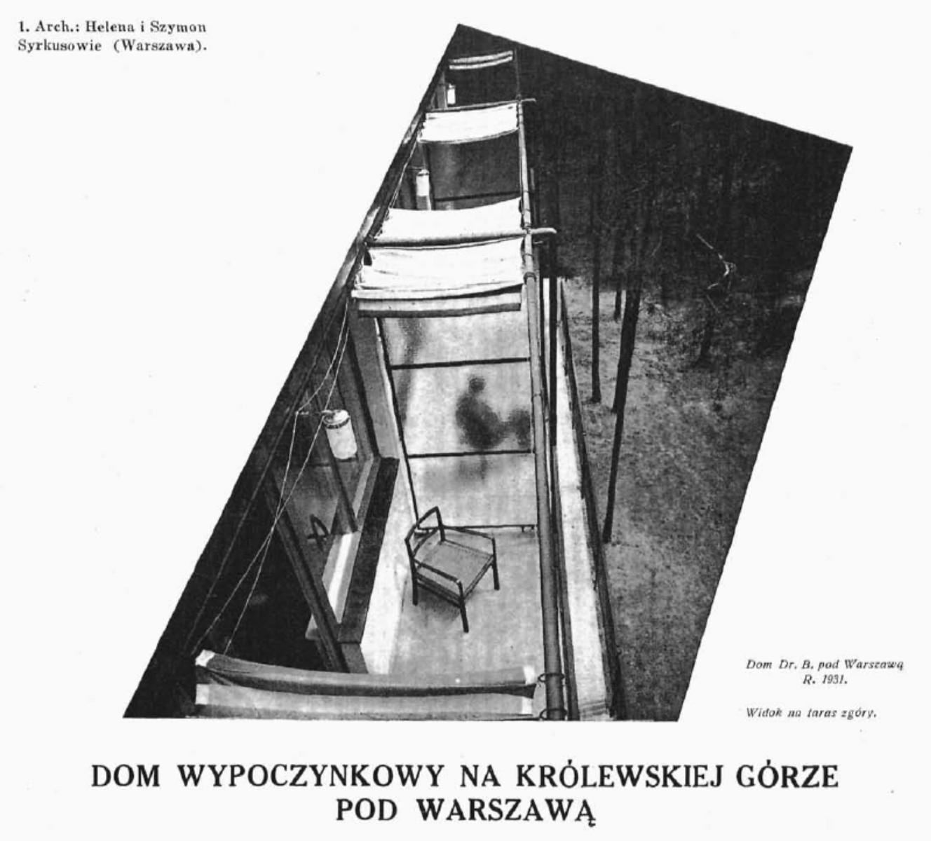 Dom wypoczynkowy dr Bernsteina (Architektura i Budownictwo nr 4 1934 r)